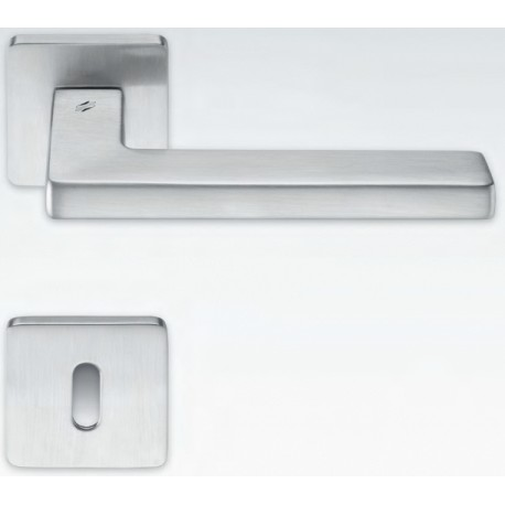 COLOMBO DESIGN DOOR HANDLES PAIR ESPRIT SERIES ON ROSE MADE IN ITALY