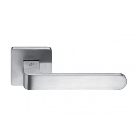 COLOMBO DESIGN DOOR HANDLES PAIR FEDRA SERIES ON ROSE MADE IN ITALY