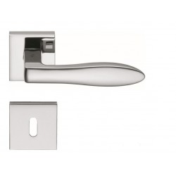 COLOMBO DESIGN DOOR HANDLES PAIR GILDA SERIES ON ROSE MADE IN ITALY
