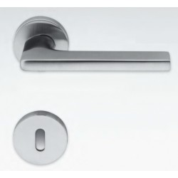 COLOMBO DESIGN DOOR HANDLES PAIR GIRA SERIES ON ROSE MADE IN ITALY