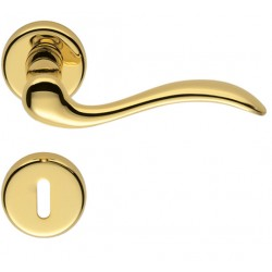 COLOMBO DESIGN DOOR HANDLES PAIR HEIDI SERIES ON ROSE MADE IN ITALY