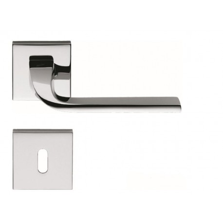 COLOMBO DESIGN DOOR HANDLES PAIR ISY SERIES ON ROSE MADE IN ITALY