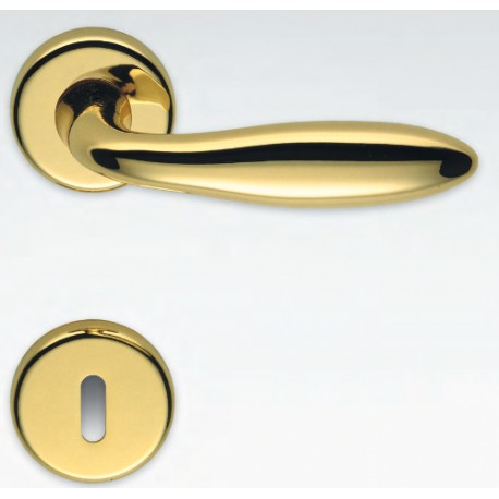 COLOMBO DESIGN DOOR HANDLES PAIR MACH SERIES ON ROSE MADE IN ITALY
