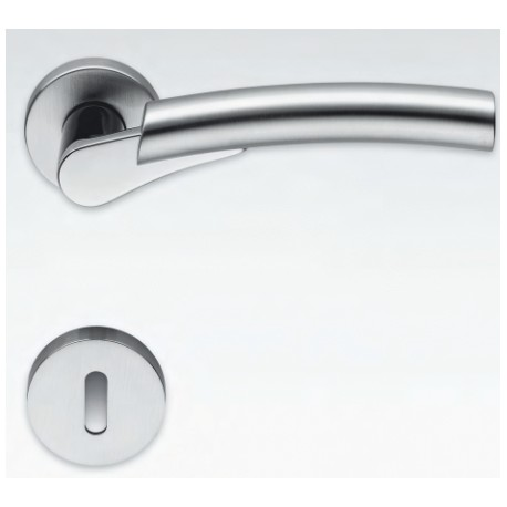 COLOMBO DESIGN DOOR HANDLES PAIR MIXA SERIES ON ROSE MADE IN ITALY