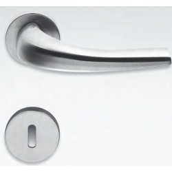 COLOMBO DESIGN DOOR HANDLES PAIR NAGARÈ SERIES ON ROSE MADE IN ITALY