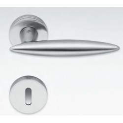 COLOMBO DESIGN DOOR HANDLES PAIR PEGASO  SERIES ON ROSE MADE IN ITALY