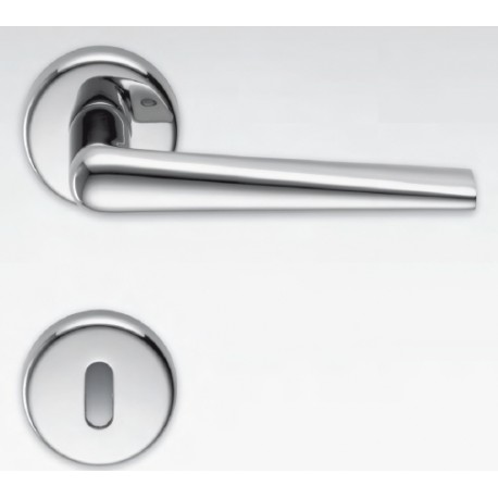 COLOMBO DESIGN DOOR HANDLES PAIR ROBOTRE SERIES ON ROSE MADE IN ITALY