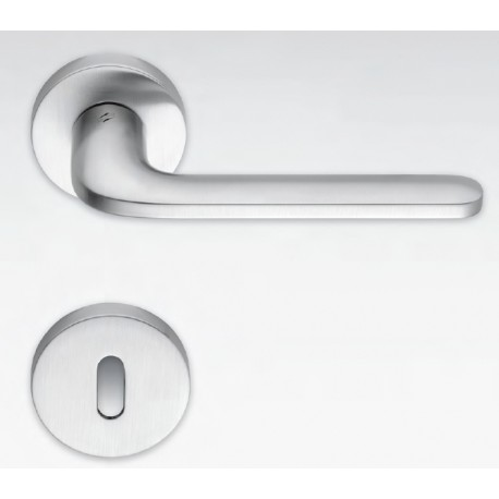 COLOMBO DESIGN DOOR HANDLES PAIR ROBOQUATTRO SERIES ON ROSE MADE IN ITALY
