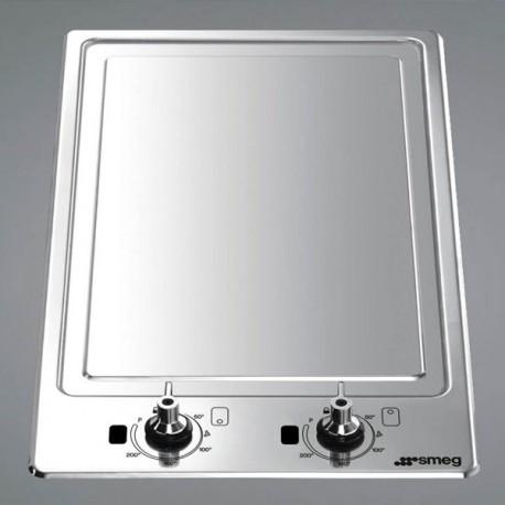 SMEG DOMINO STONE GRILL PGF30B - 30 CM