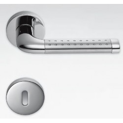 COLOMBO DESIGN DOOR HANDLES PAIR TAILLA SERIES ON ROSE MADE IN ITALY