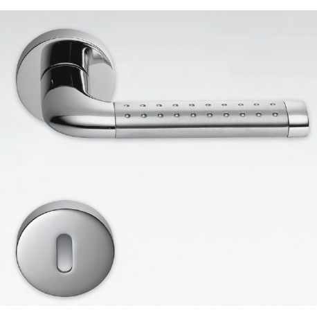 COLOMBO DESIGN DOOR HANDLES PAIR TAILLA SERIES ON ROSE MADE IN ITALY : ital doors srl - pezcame.com