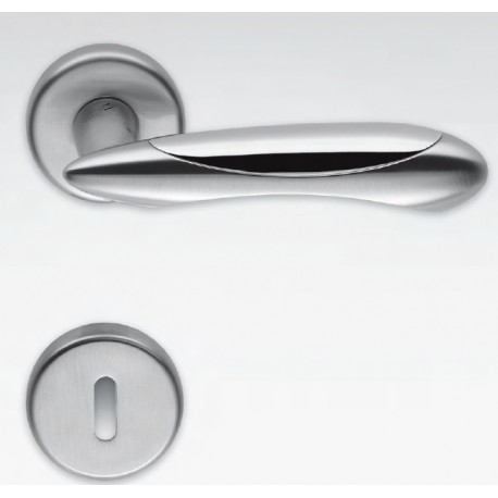 COLOMBO DESIGN DOOR HANDLES PAIR TALITA SERIES ON ROSE MADE IN ITALY