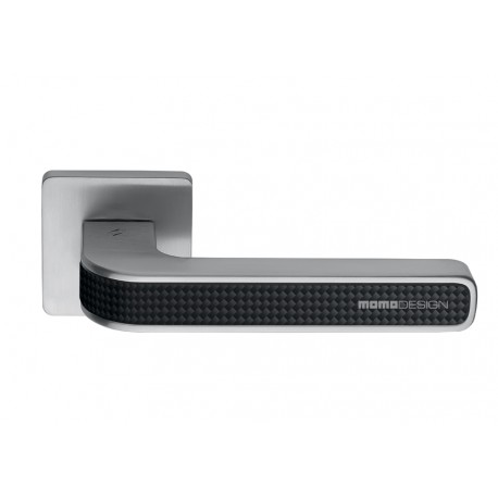 COLOMBO DESIGN DOOR HANDLES PAIR TECNO SERIES ON ROSE MADE IN ITALY MOMO DESIGN