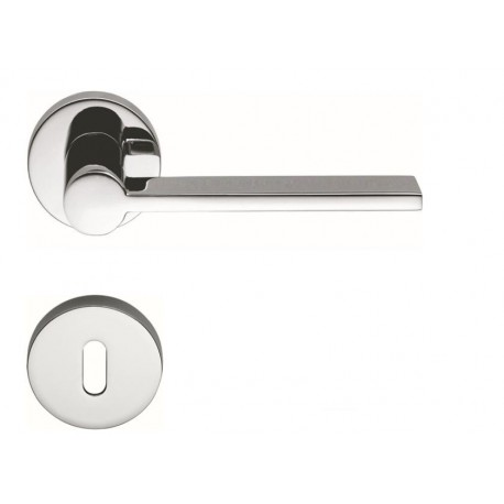 COLOMBO DESIGN DOOR HANDLES PAIR TOOL SERIES ON ROSE MADE IN ITALY
