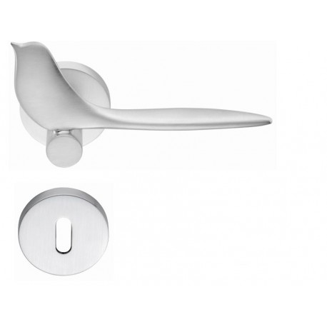 COLOMBO DESIGN DOOR HANDLES PAIR TWITTY SERIES ON ROSE MADE IN ITALY