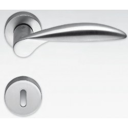 COLOMBO DESIGN DOOR HANDLES PAIR WING SERIES ON ROSE MADE IN ITALY