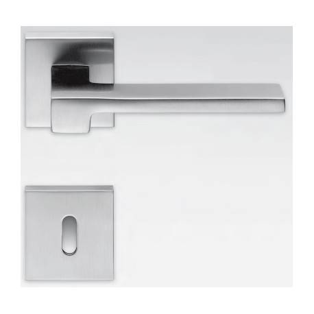 COLOMBO DESIGN DOOR HANDLES PAIR ZELDA SERIES ON ROSE MADE IN ITALY