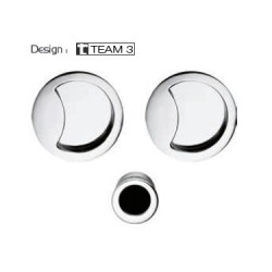 COLOMBO DESIGN SET OF FLUSH INSET HANDLES FOR SLIDING DOORS WITHOUT LOCK OPEN ID211 MADE IN ITALY