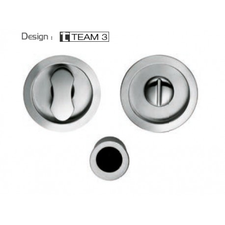 COLOMBO DESIGN SET OF FLUSH INSET HANDLES FOR SLIDING DOORS WITH LOCK OPEN ID211 LK MADE IN ITALY