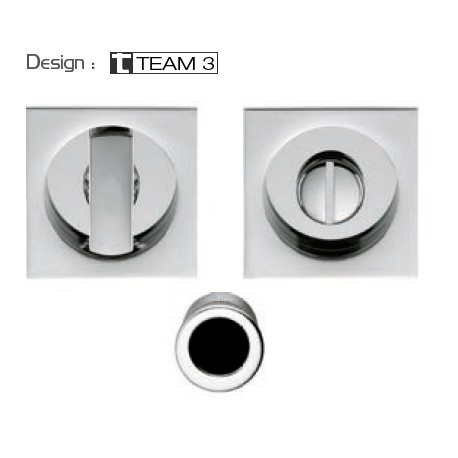 COLOMBO DESIGN SET OF FLUSH INSET HANDLES FOR SLIDING DOORS WITH LOCK OPEN ID311 LK MADE IN ITALY