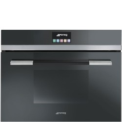 SMEG COMPACT COMBI STEAM OVEN SF4140VCN BLACK  60x45 CM