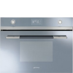 SMEG COMPACT COMBI STEAM OVEN SF4120VCS SILVER GLASS 60x45 CM