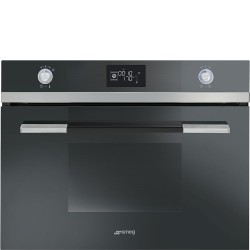 SMEG COMPACT COMBI STEAM OVEN SF4120VCN BLACK  60x45 CM