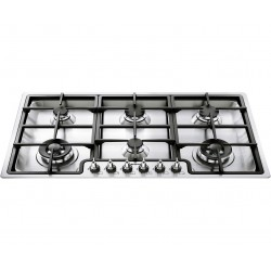 SMEG GAS HOB PGF96 STAINLESS STEEL BASE 90 CM