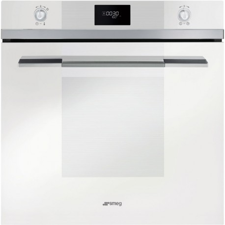 SMEG PYROLITIC MULTIFUNCTION OVEN SFP106B-1 SUPERSILVER GLASS LINEA DESIGN 60 CM