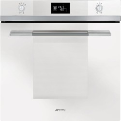 SMEG PYROLITIC MULTIFUNCTION OVEN SFP120B-1 WHITE GLASS LINEA DESIGN 60 CM