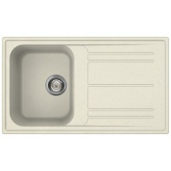 SMEG KITCHEN SINK RIGAE LZ861P - 1 BOWL CREAM