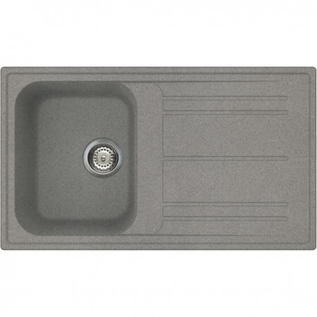 SMEG KITCHEN SINK RIGAE LZ861TT - 1 BOWL TITANIUM