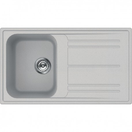 SMEG KITCHEN SINK RIGAE LZ861AL - 1 BOWL ALUMINIUM