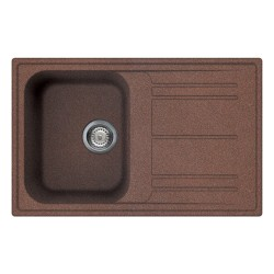 SMEG KITCHEN SINK RIGAE LZ791RA - 1 BOWL COPPER 79x50 CM