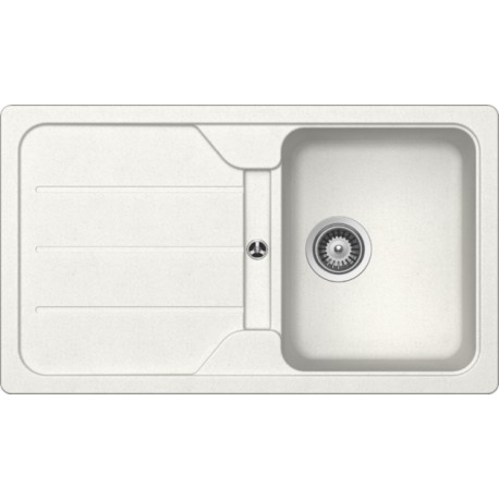 SCHOCK KITCHEN SINK FORMHAUS D100 - 1 BOWL CRISTALITE WHITE ALPINA