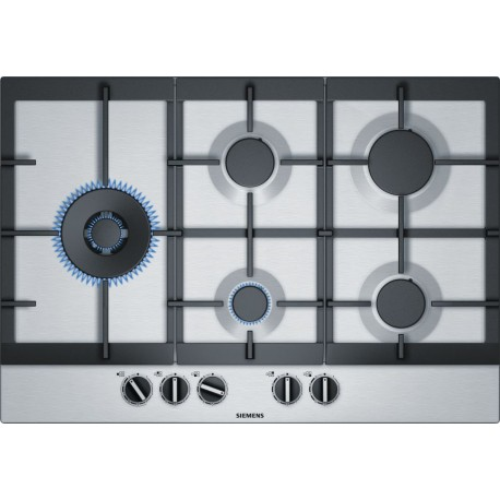 SIEMENS GAS HOB 5 BURNERS EC7A5SB90 STAINLESS STEEL 75 CM