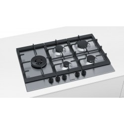 TABLE DE CUISSON À GAZ SIEMENS EC7A5SB90 ACIER INOX 75 CM