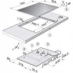 TABLE DE CUISSON INDUCTION MIELE KM 6118 75 CM