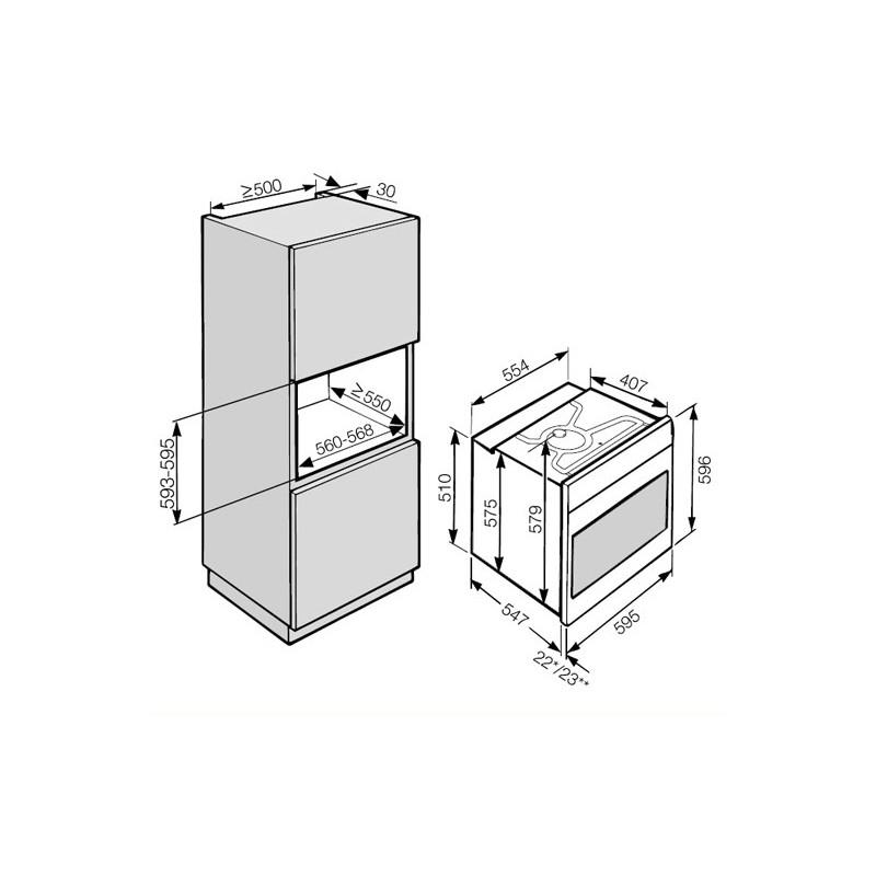 Four électrique Avec Nettoyage Pyrolyse Miele H 2661 1 Bp Acier Ino
