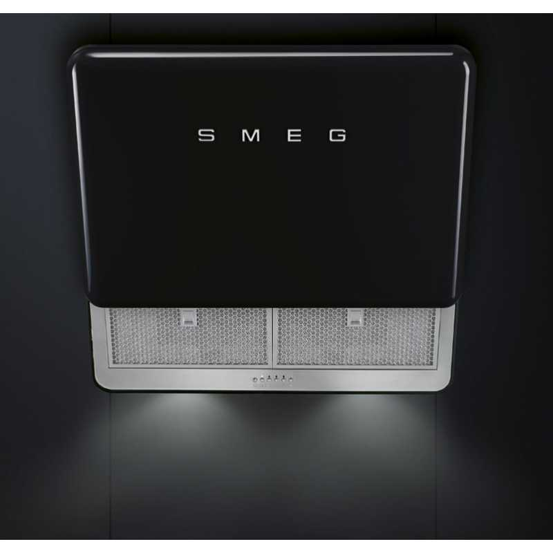 smeg kfab75bl hotte murale noire 75 cm esth tique ann es 39 50 fab a. Black Bedroom Furniture Sets. Home Design Ideas