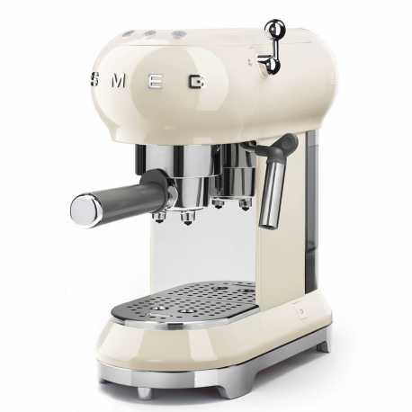 SMEG ESPRESSO COFFEE MACHINE ECF01CREU CREAM 50'S STYLE