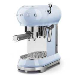 MACHINE À CAFÉ SMEG BLEU AZUR ECF01PBEU ESTHÉTIQUE ANNÉES 50