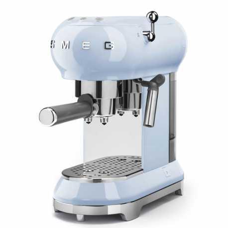 SMEG ESPRESSO COFFEE MACHINE ECF01PBEU PASTEL BLUE 50'S STYLE