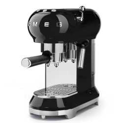 SMEG ESPRESSO COFFEE MACHINE ECF01BLEU BLACK 50'S STYLE