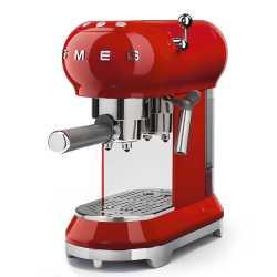 MACHINE À CAFÉ SMEG ROUGE ECF01RDEU ESTHÉTIQUE ANNÉES 50