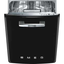 SMEG ST2FABBL BUILT-IN DISHWASHER BLACK 60 CM 50's STYLE