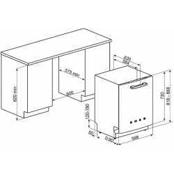 SMEG ST2FABBL BUILT-IN DISHWASHER BLACK 60 CM 50's STYLE
