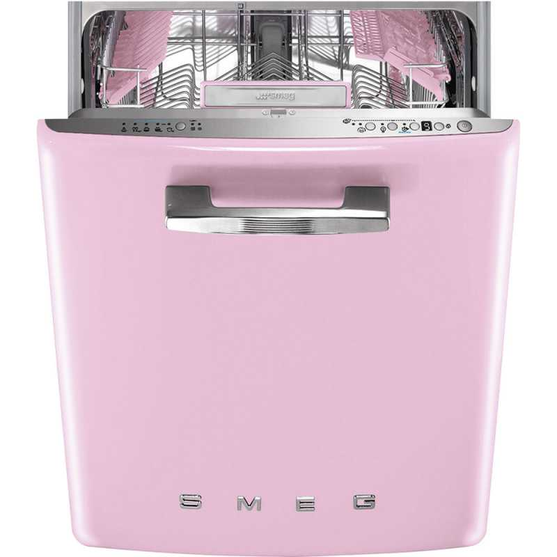 Smeg st2fabpk built in dishwasher pink 60 cm 50 39 s style for 50s style kitchen appliances