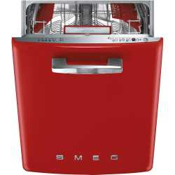 SMEG ST2FABRD BUILT-IN DISHWASHER RED 60 CM 50's STYLE
