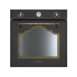 FOUR ÉLETRONIQUE THERMOVENTILATED SMEG SF750AO ANTHRACITE ESTHÉTIQUE CORTINA 60 CM